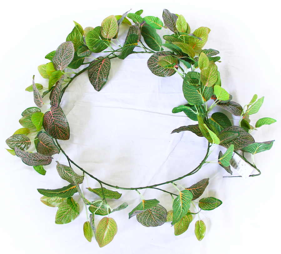 2 Pack - Artificial Fittonia Garland - 190cm