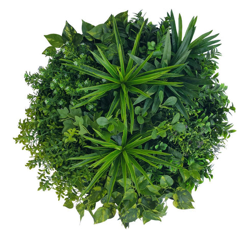 60cm 'Tropical Green' Vertical Garden Disc