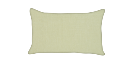 Custom Pillow - Lumbar - Celadon - Piping