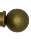 Custom Drapery Rod - Ball Finial - Brass - 125""
