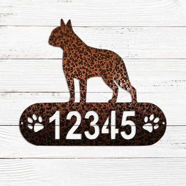 Boston Terrier Address Plaque