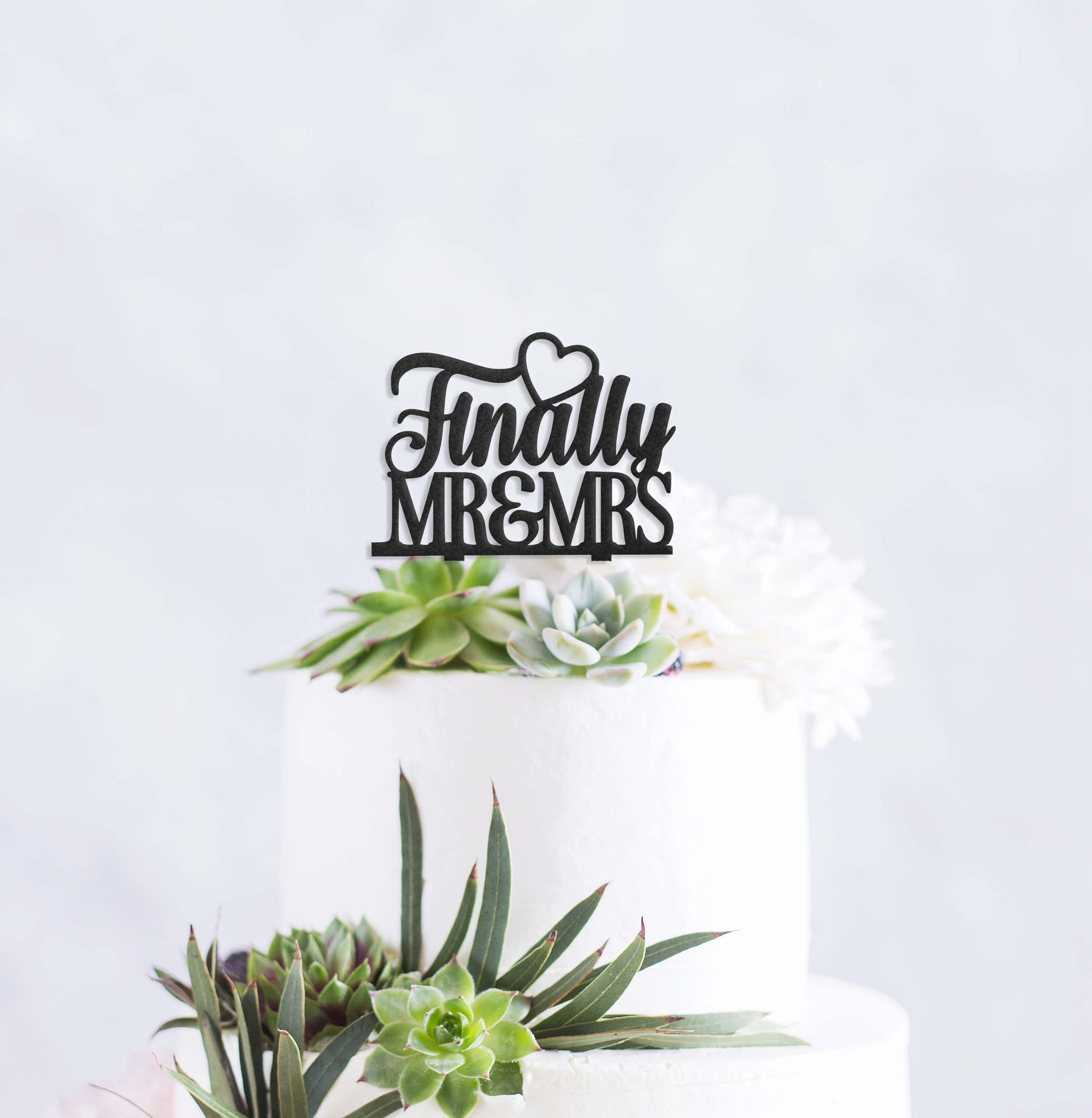 Finally Mr. & Mrs. Cake Topper