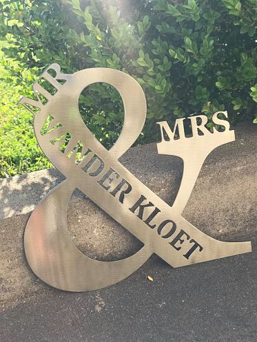 Monogram Mr. & Mrs. - option 1