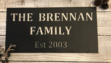 Custom Family Name Plaque - Majesty Metal Art