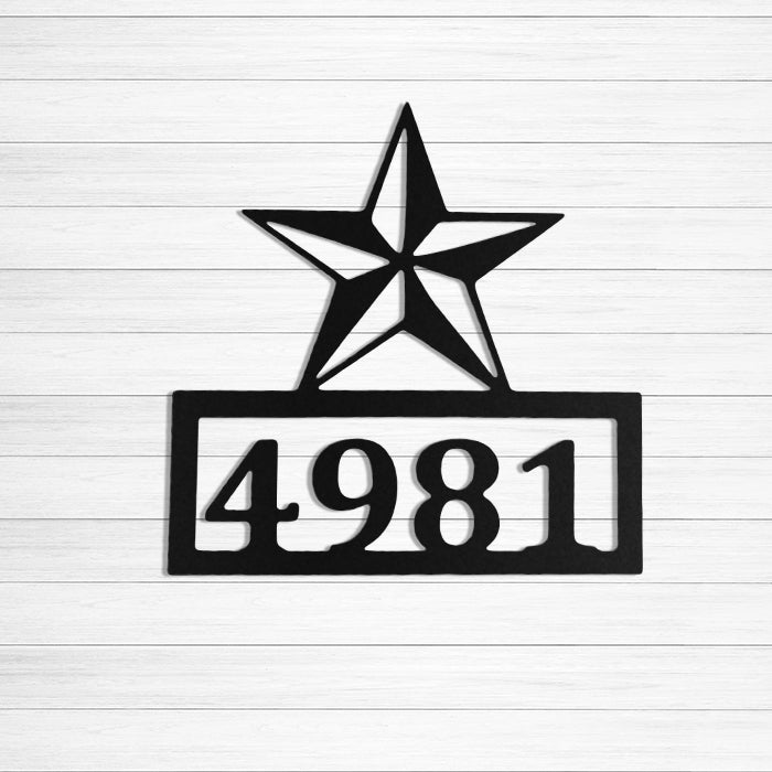 Custom Address Texas Star
