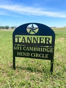 Custom Address Yard Sign
