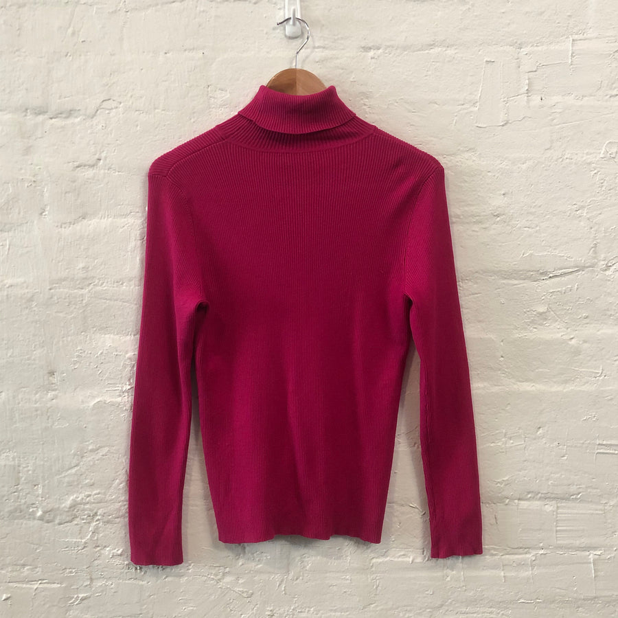 Ribbed Turtleneck Knit Sweater Skivvy - Vintage Sole