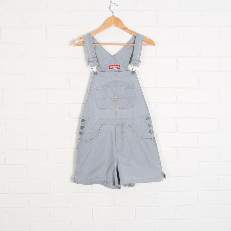 Union Bay Blue Grey Short Cotton Overalls
