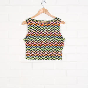 Colourful Zig Zag USA Made Mesh Tank Top