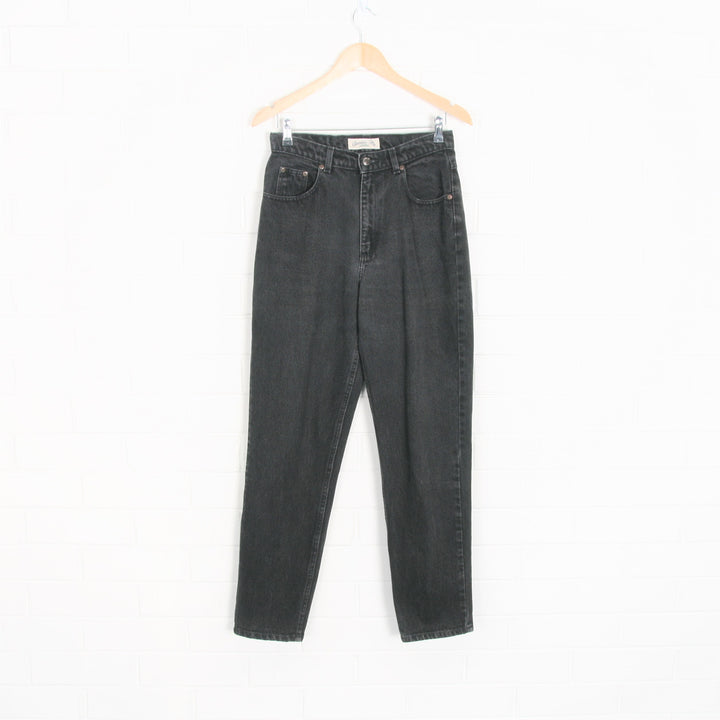 Black St John's Bay High Waist Tapered Leg Jeans