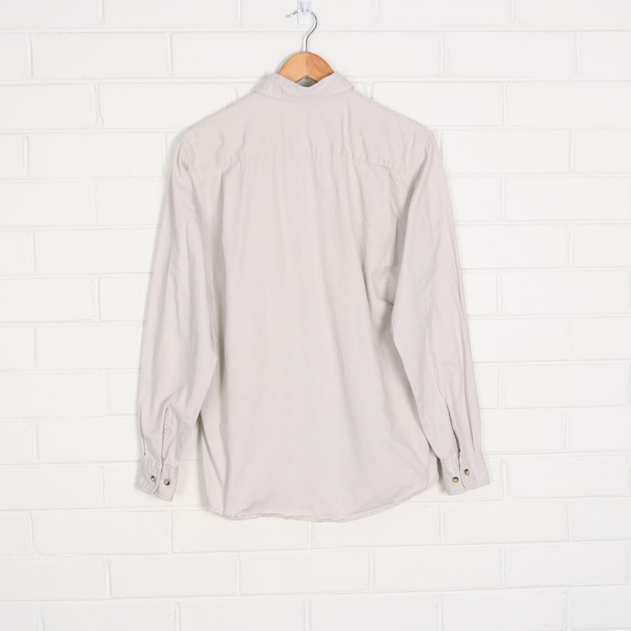Beige WRANGLER Long Sleeve Work  Shirt