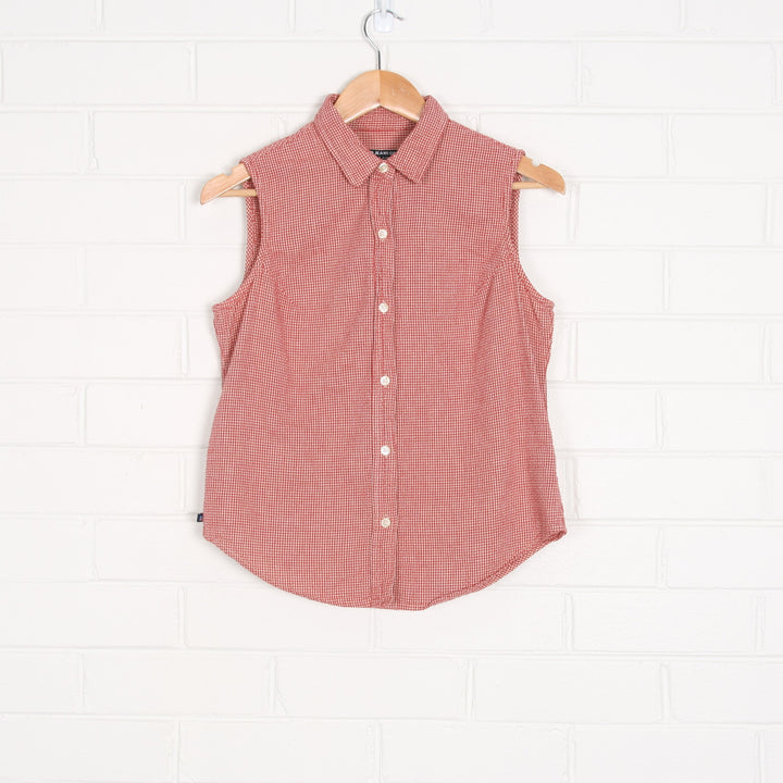 RALPH LAUREN Red Gingham Sleeveless Shirt