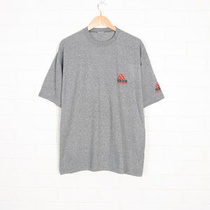 Grey ADIDAS Equipment Embroidered T-Shirt XL