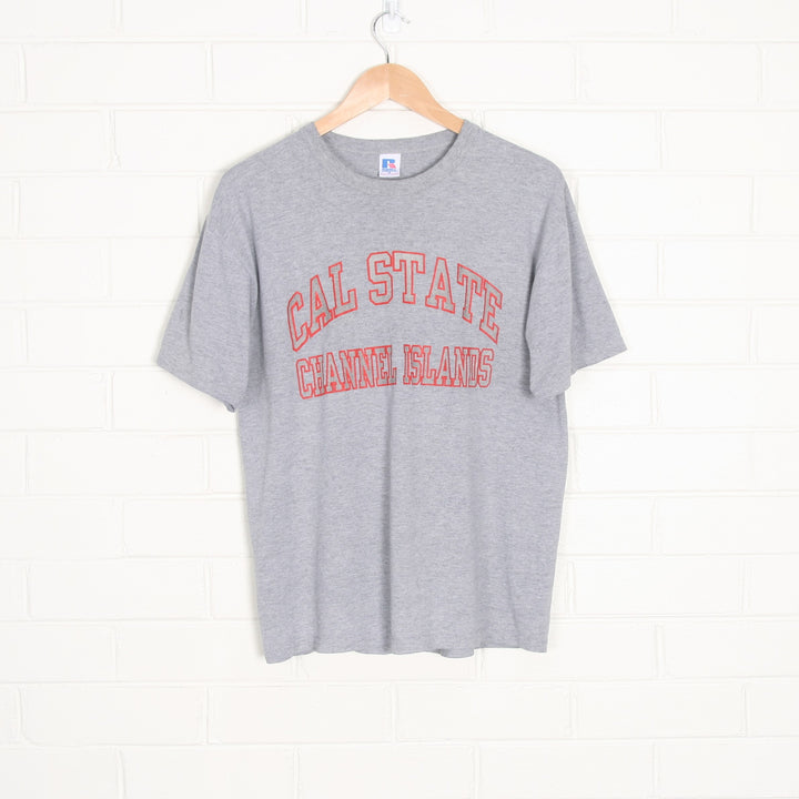 Grey California State Spell Out College T-Shirt