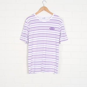 PUMA Purple and White Striped T-Shirt