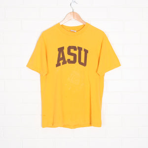 Yellow Arizona State Spell Out College T-Shirt