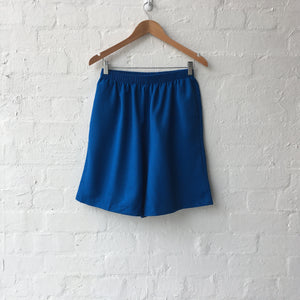 Bright Blue Elastic Waist Shorts