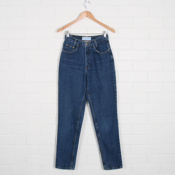 Mid Blue High Waist Jeans - Vintage Sole