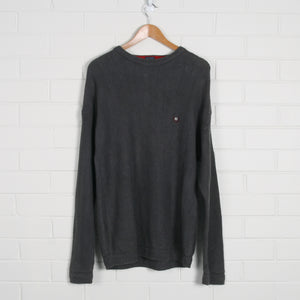 Ralph Lauren CHAPS Grey Knit Sweater - Vintage Sole