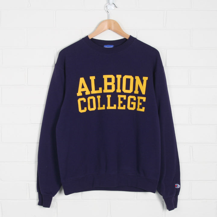 Albion College Champion Purple Sweatshirt - Vintage Sole
