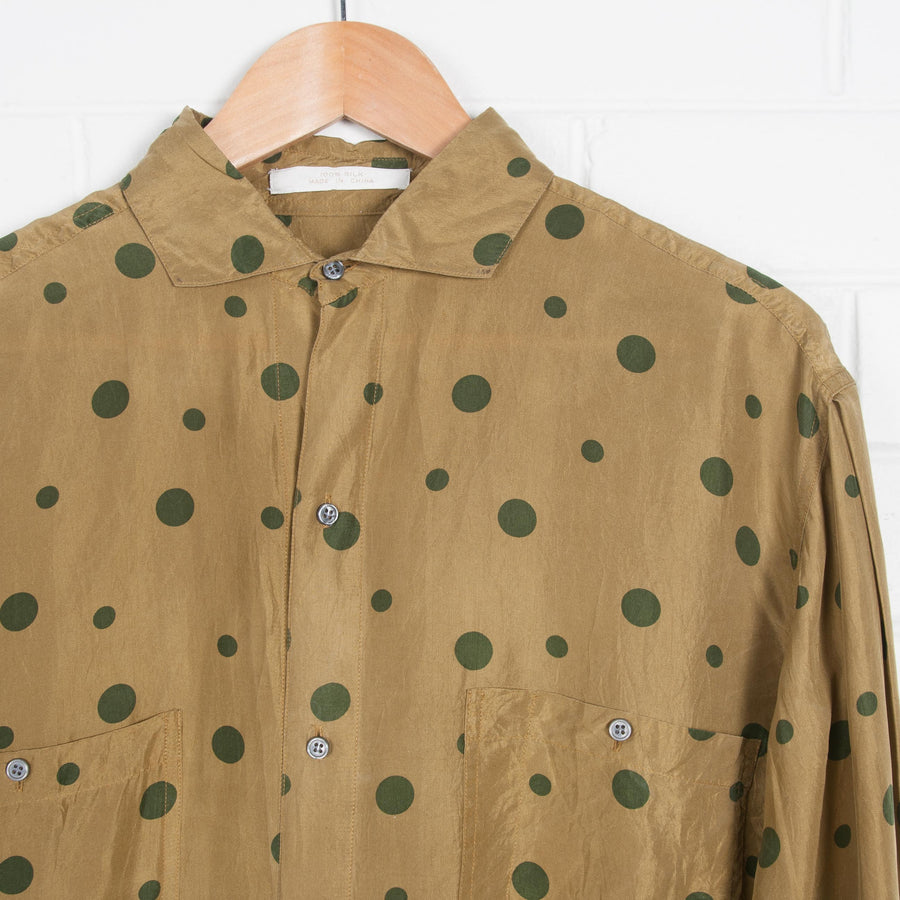 SILK Polka Dot Print Oversized Shirt