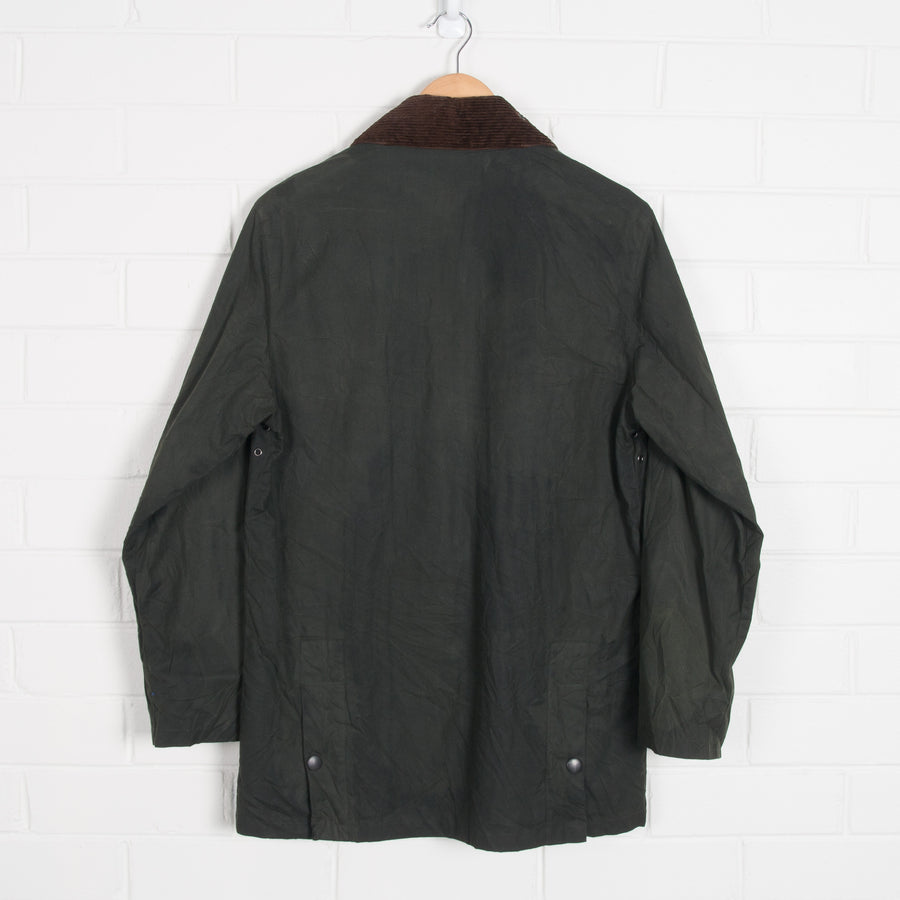 Vintage Wax Waterproof Jacket Dark Green Chore