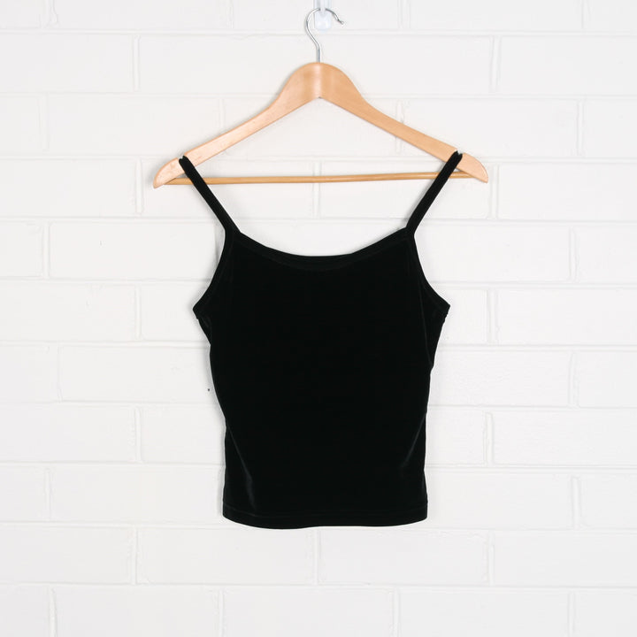 Super Soft Black Velvet Strappy Top