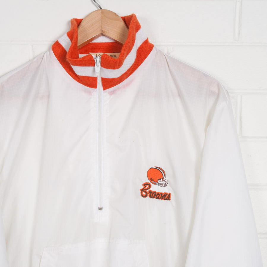 CLEVELAND BROWNS Pro Sport NFL Half Zip Nylon Pop Over