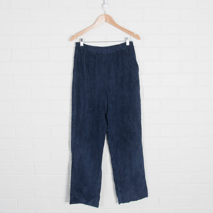 Thick Cord Elastic Waist Pants Navy