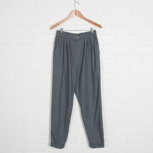 Grey High Waist Tapered Pants