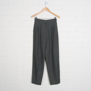 Dark Grey High Waist Crop Pants