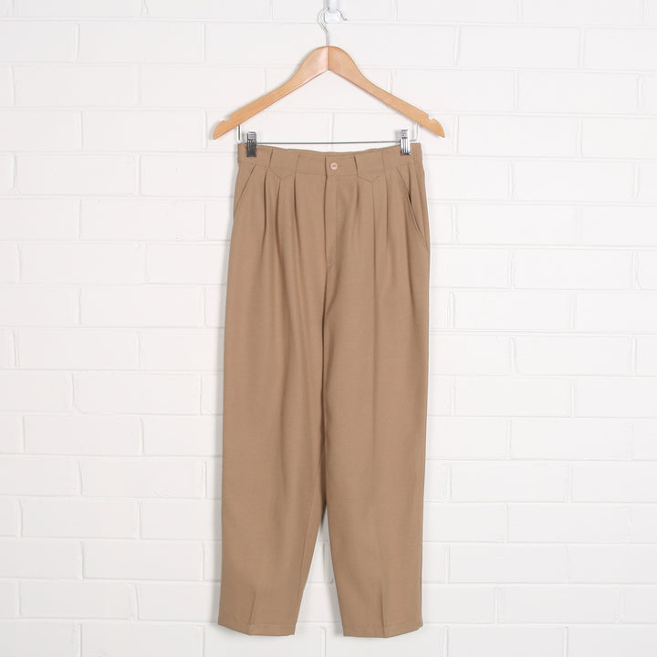 High Waist Camel Unlined Pants