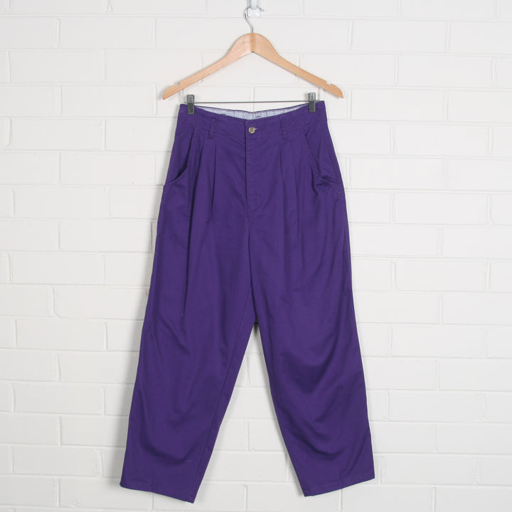 LEVIS Dockers Purple High Waist Crop Pants