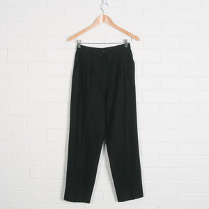 Black High Waist Crop Pants
