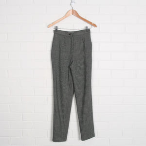 Wool Stripe High Waist Pants