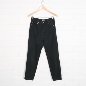 Black Stonewash High Waist Jeans