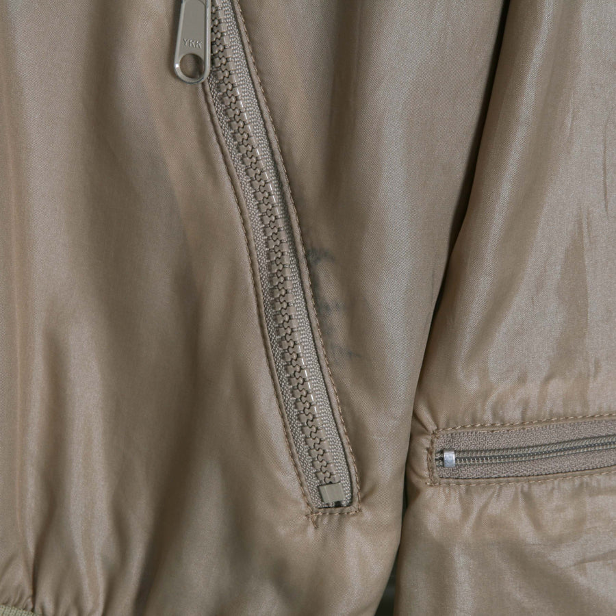 LACOSTE Beige 80s Zip Through Bomber Jacket
