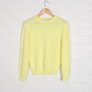 Pastel Yellow Crew Neck Knit Jumper