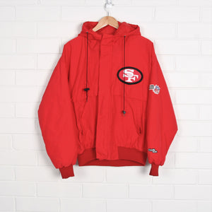 San Francisco 49ers NFL Pro Sport Hooded Lined Bomber Jacket