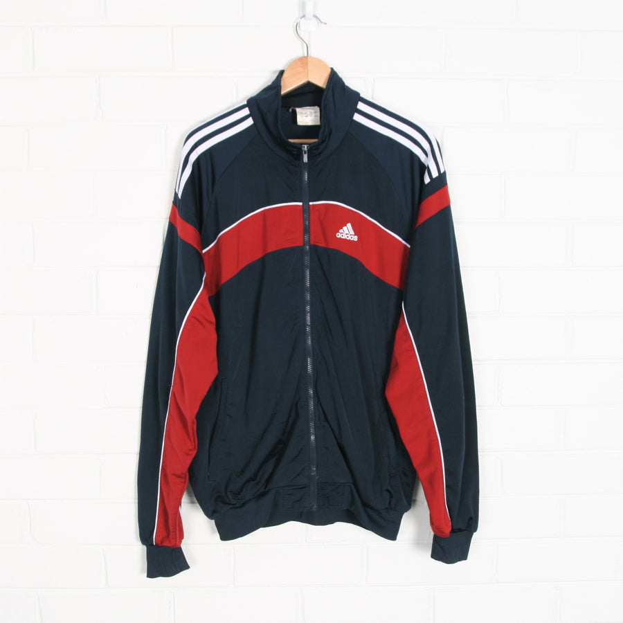 ADIDAS 3 Stripe Navy Red Track Jacket