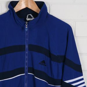 ADIDAS Blue Zip up Embroidered Logo Windbreaker