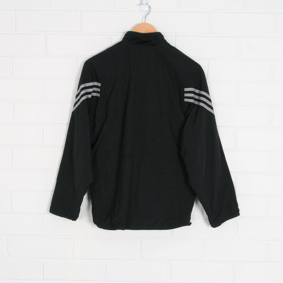 Black ADIDAS Strip Sleeve 1/4 Zip Windbreaker Jumper