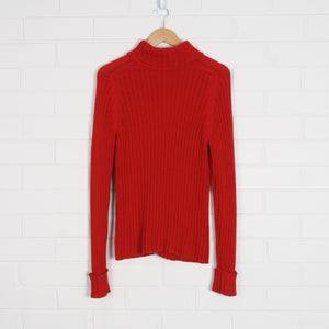 Ribbed Turtleneck Knit Jumper Australian Made