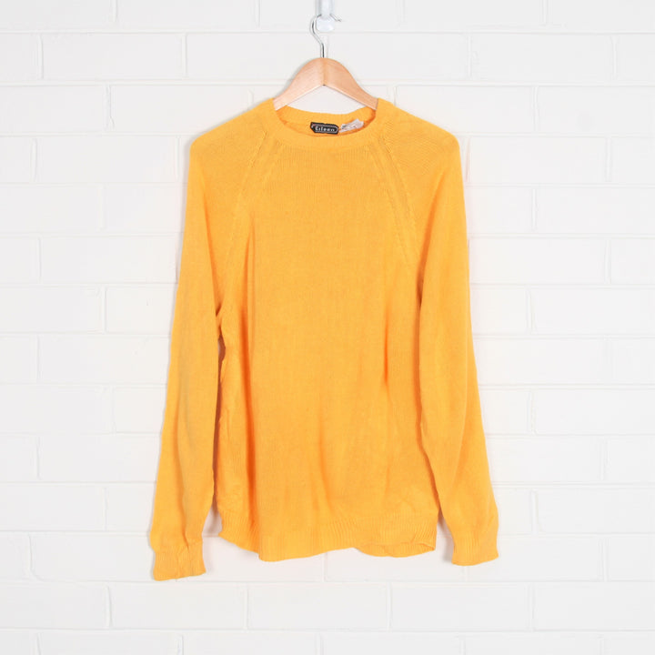 Bright Yellow Crew Neck Knit Jumper