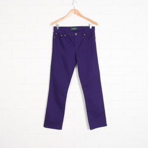 RALPH LAUREN Purple Denim Jeans
