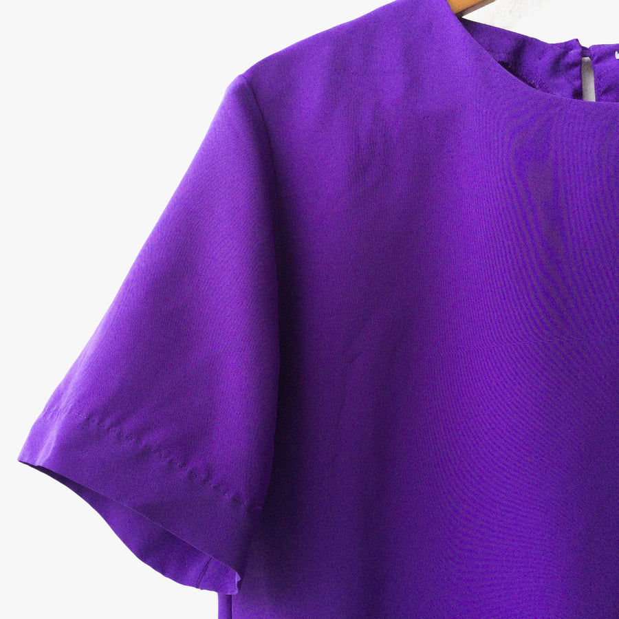 Womens Purple Lightweight Short Sleeve Top