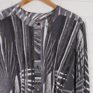 Silver 80s Micro Pleat Crop Shirt