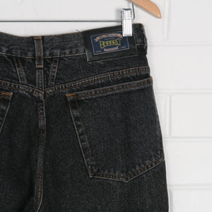 Made in Italy Western Cut Black High Waist Denim Jeans