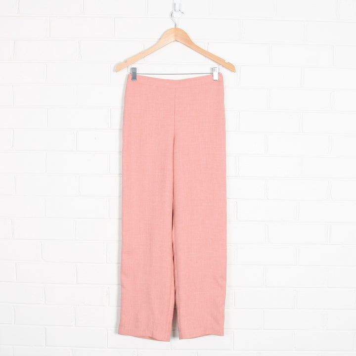 Pastel Pink High Waist Elastic Back Pants