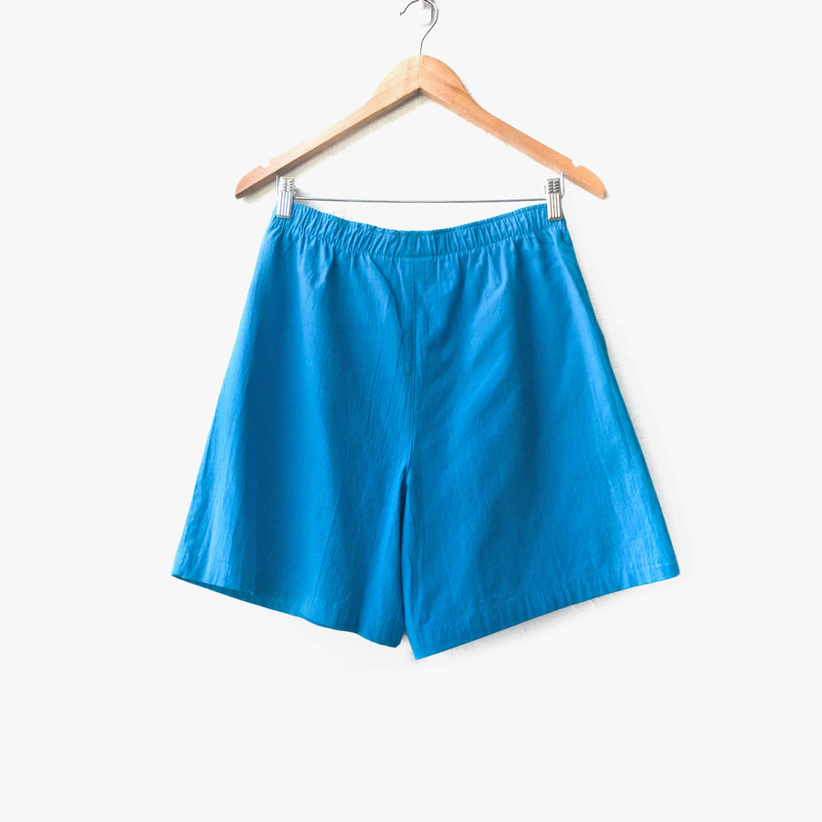 Bright Blue 80s Cotton Shorts